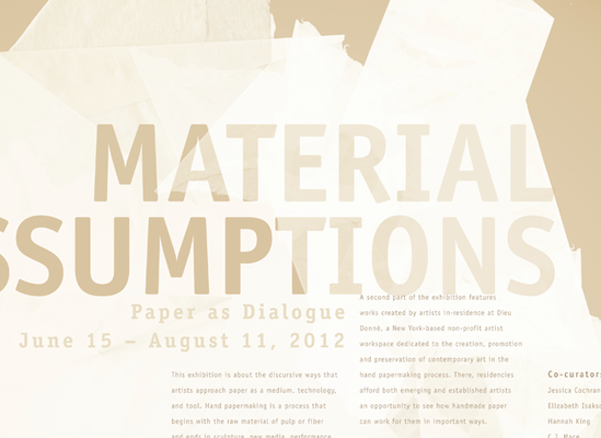 Material Assumptions Detail